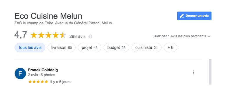 Avis Eco cuisine Melun 77 2021