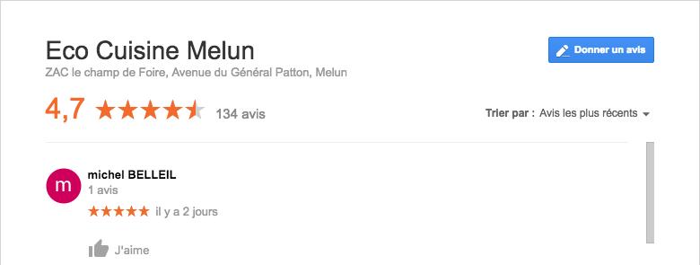 Avis eco cuisine Melun 77
