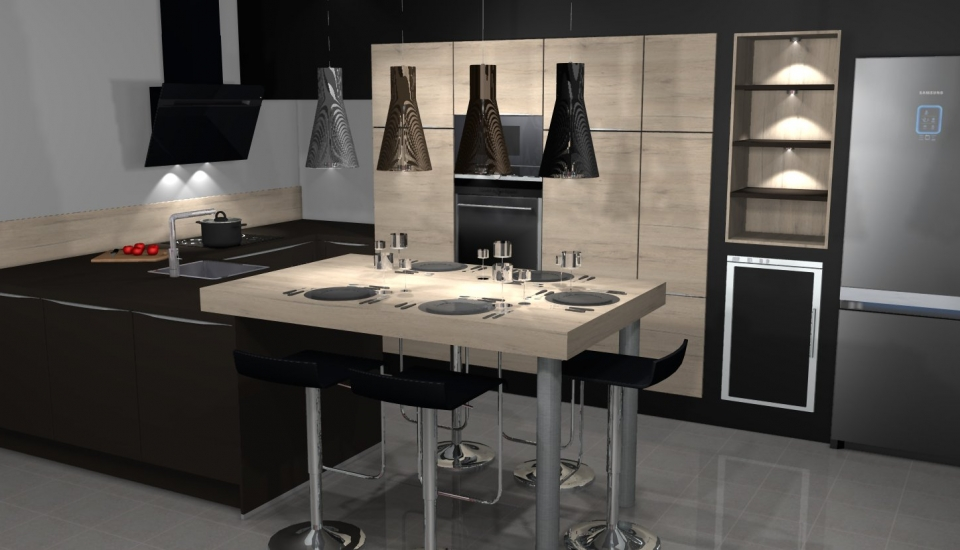 Votre projet cuisine eco cuisine melun 77 cuisine tout for Conception 3d cuisine